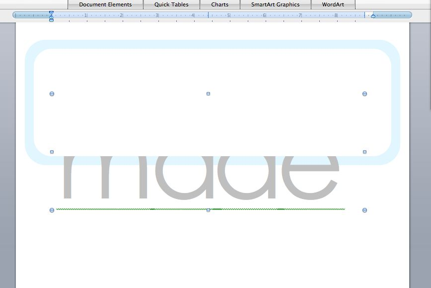 Make graphics in WORD – MADE EVERYDAY