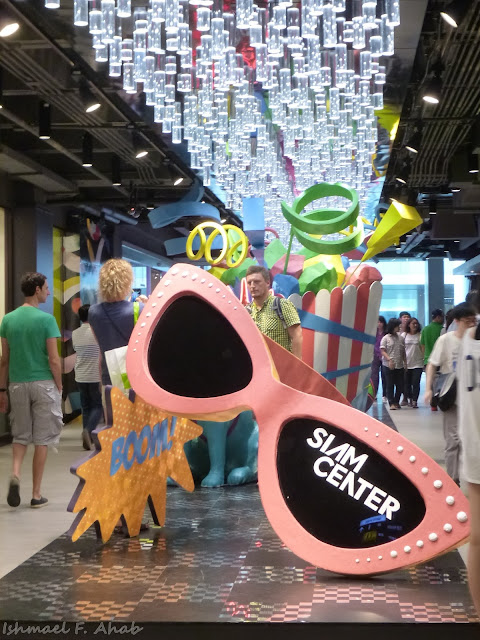 Giant glasses in Siam Center