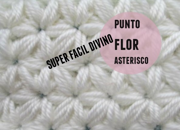 Punto Flor asterisco crochet tutorial