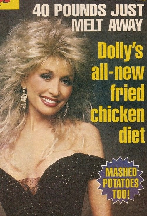 Funny Dolly Parton Fried Chicken Diet Joke Picture