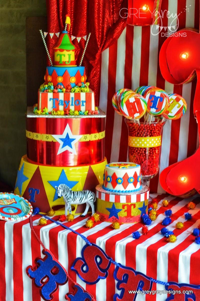 Greygrey Designs My Parties Tj And Taylor S Circus