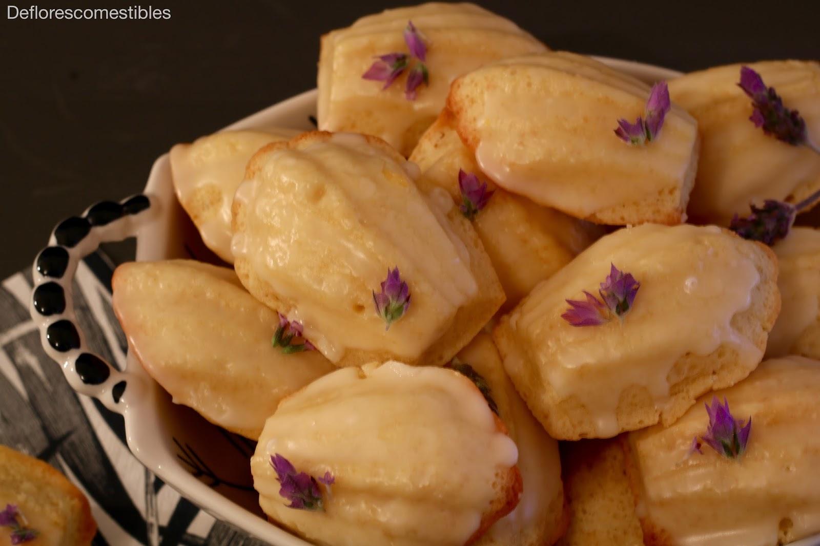 magdalenas francesas con lavanda