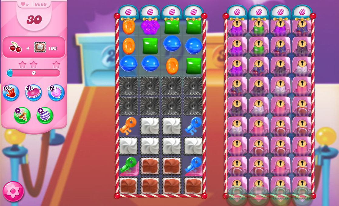 Candy Crush Saga level 6883