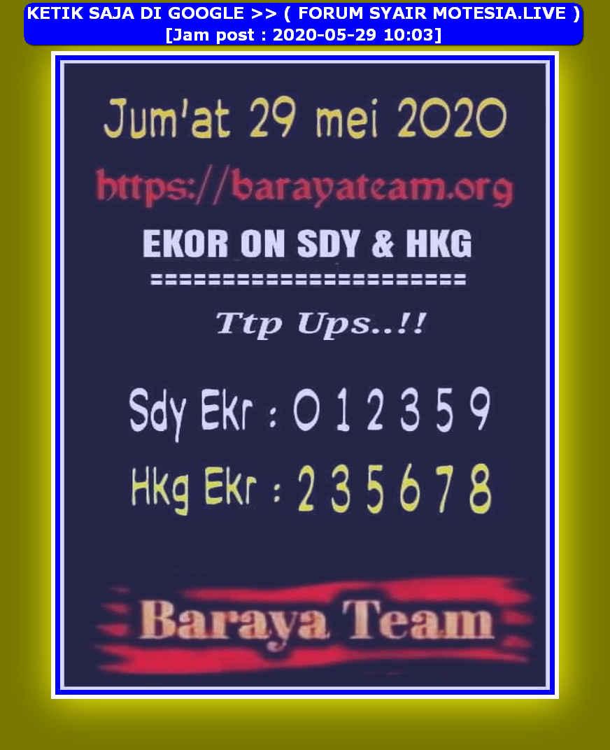Kode syair Hongkong Jumat 29 Mei 2020 183