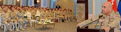 الفريق أول / صدقى صبحى القائد العام للقوات المسلحة وزير الدفاع والإنتاج الحربى يلتقى برجال حرس الحدود