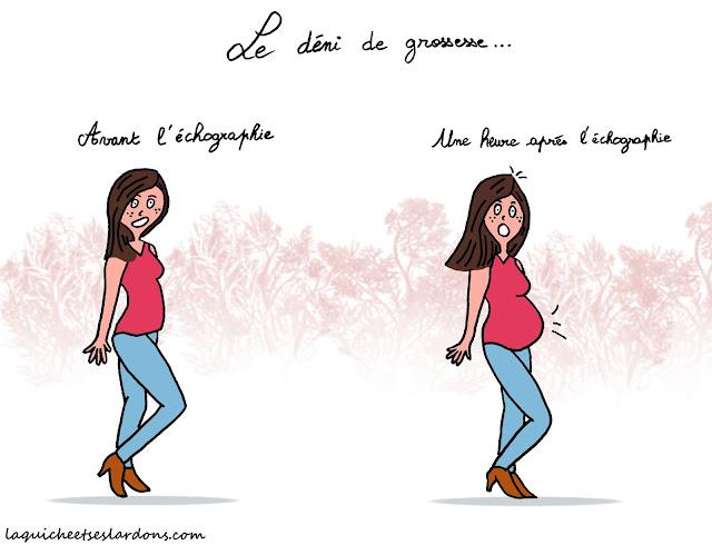 dessin illustration humour femme enceinte déni de grossesse surprise maman