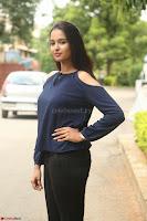 Poojita Super Cute Smile in Blue Top black Trousers at Darsakudu press meet ~ Celebrities Galleries 044.JPG