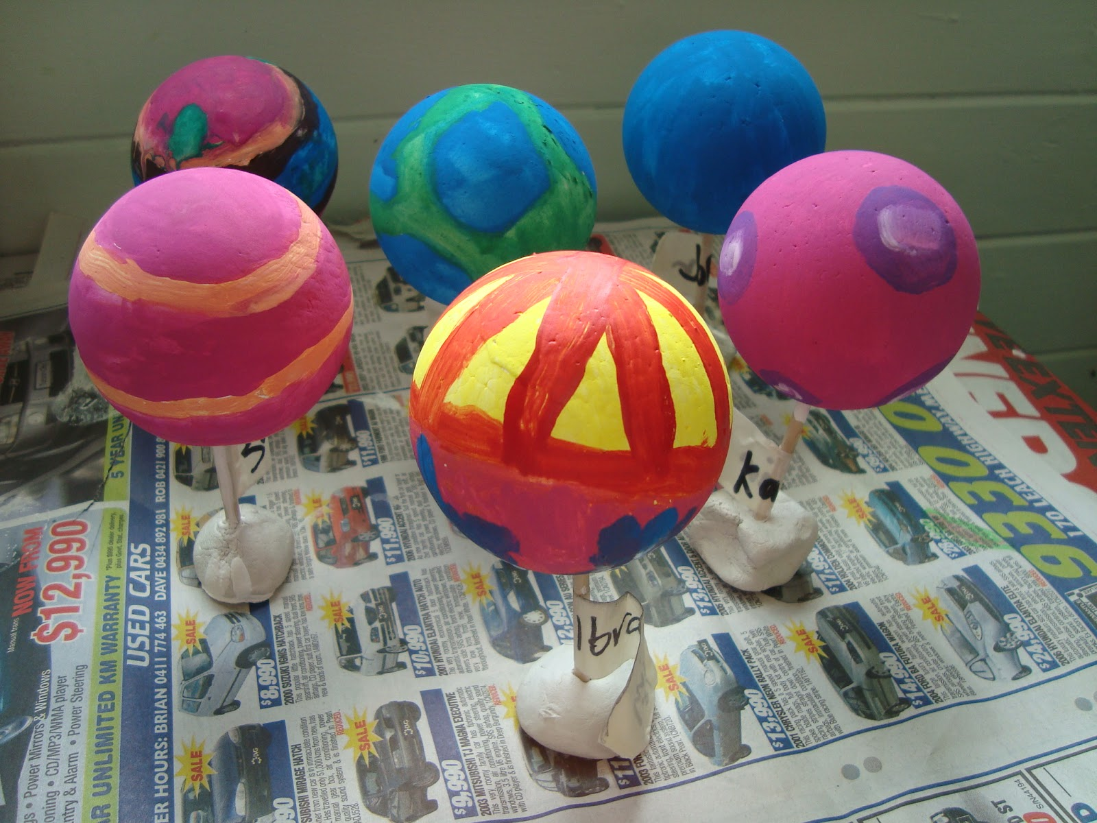 Styrofoam Balls for Planets - Pics about space