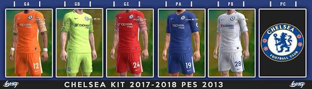 Chelsea FC Kit 17-18 PES 2013