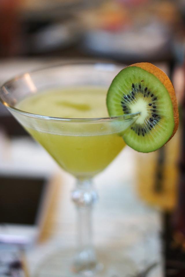 Hello Freckles The Botanist Summer Cocktail Kiwi Martini