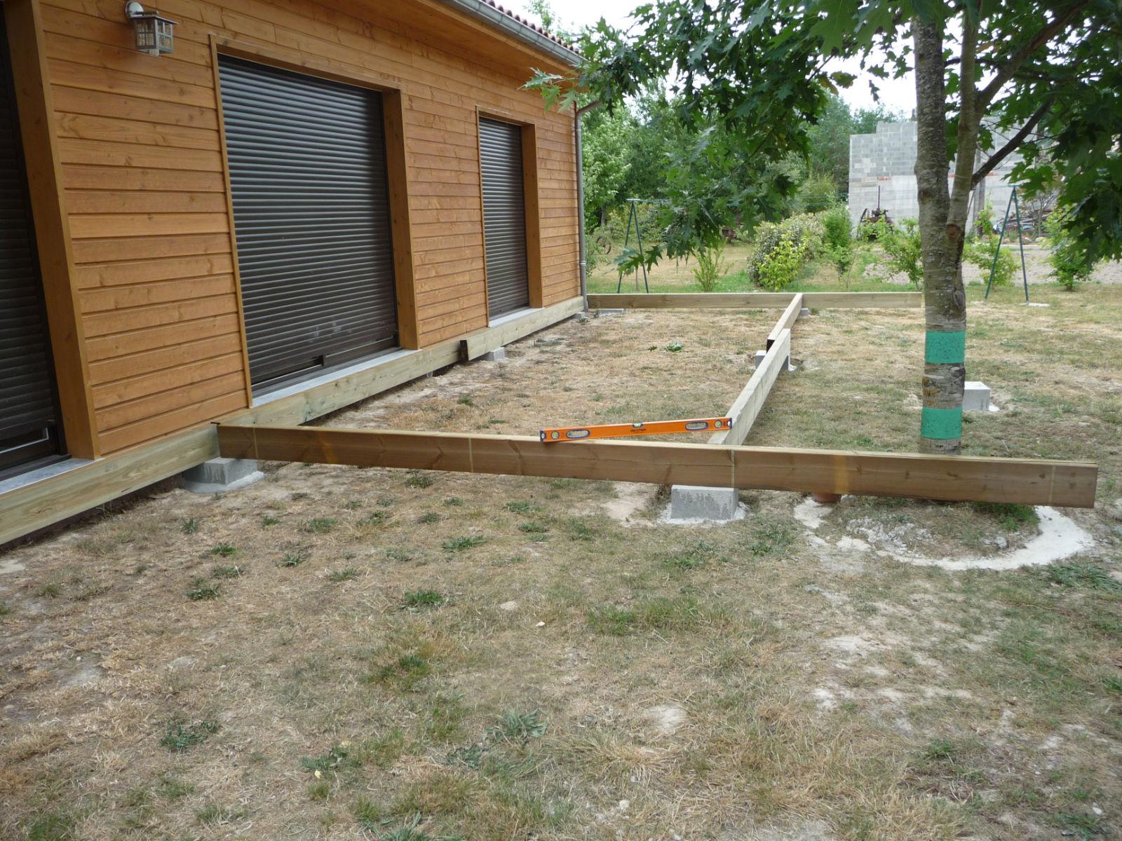 Ossature Métallique Pour Terrasse Bois assemblage de l'ossature porteuse - construire sa terrasse