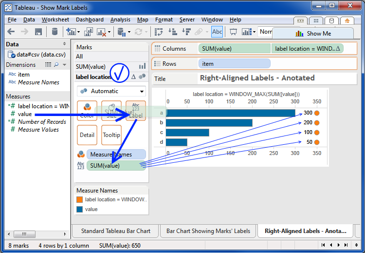 Tableau Friction: Hack Anatomy: Right-Aligning Bar Chart Labels