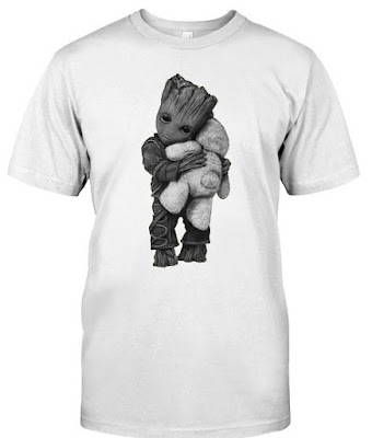 groot hugging teddy bear, Groot Hug Teddy Bear T Shirt