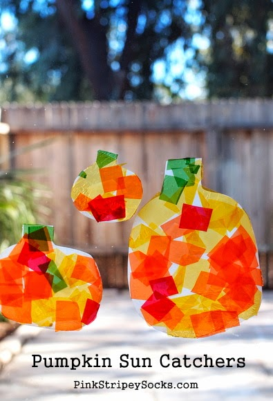 DIY Milk Jug Pumpkin Sun Catcher Craft!