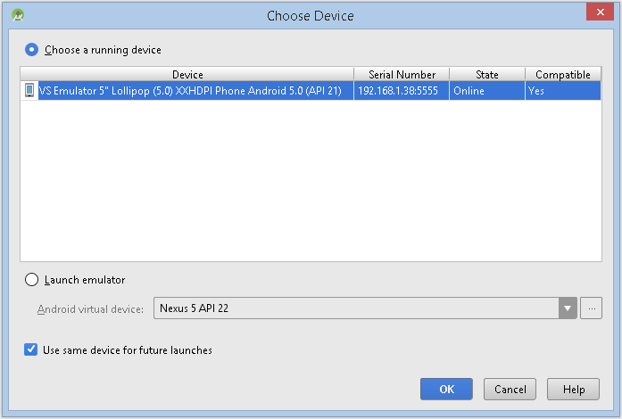 peter's tech notes: How to use Visual Studio's 2015 Android
