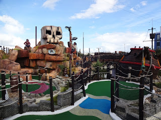 A view of the Treasure Island Adventure Golf layout in Southsea