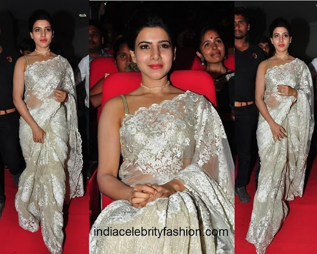 Samantha Ruth Prabhu in Gautam Rakha Saree