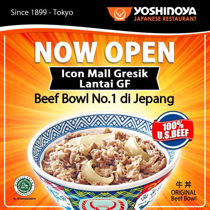 Yoshinoya - Promo Diskon & Gratis Opening di Icon Mall Gresik