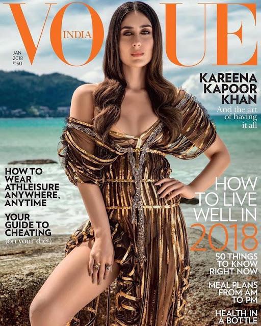 Kareena Kapoor Hot Cleavage Still For Vogue Magazine