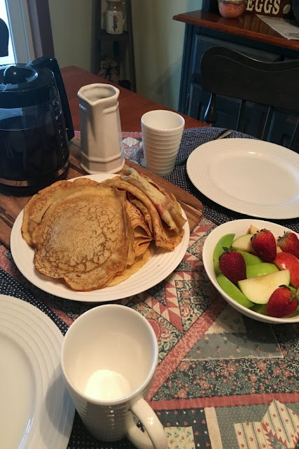 Homemade Crepes from Walking on Sunshine Recipes
