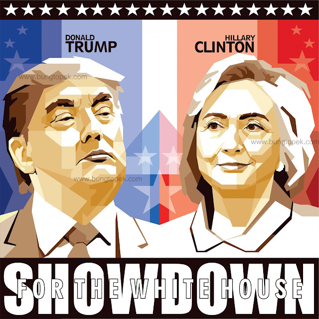 SKINTONE WPAP Donald Trump vs Hillary Clinton