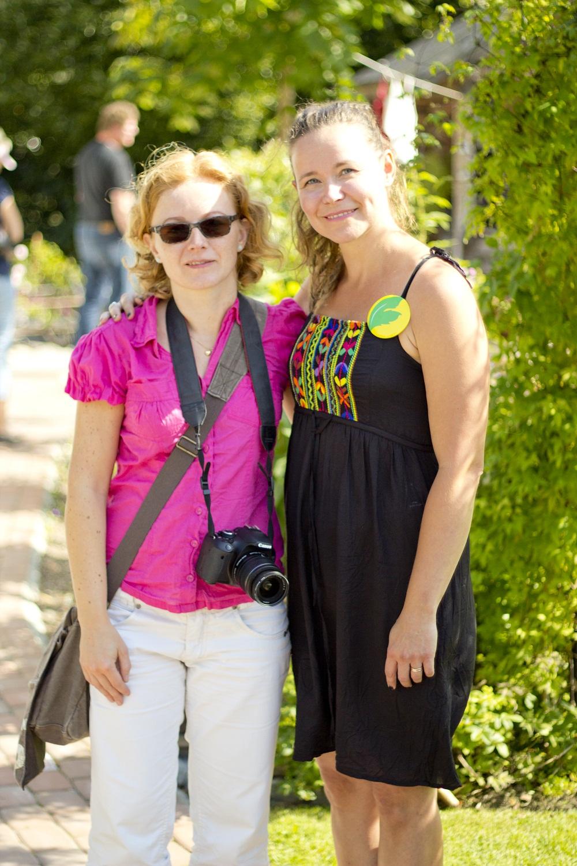 Anu från bloggen anunpuutarha.blogspot.fi och jag <3