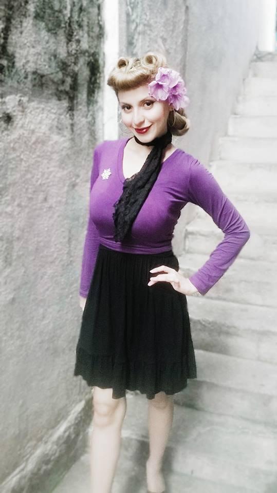 violet pinup fashion