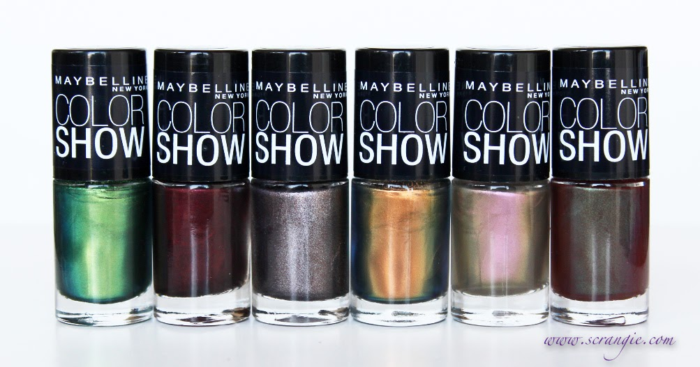 scrangie maybelline color show limited edtion fall 2012 nail lacquer collection swatches and review. Black Bedroom Furniture Sets. Home Design Ideas