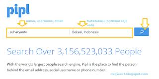 mencari biodata di pipl