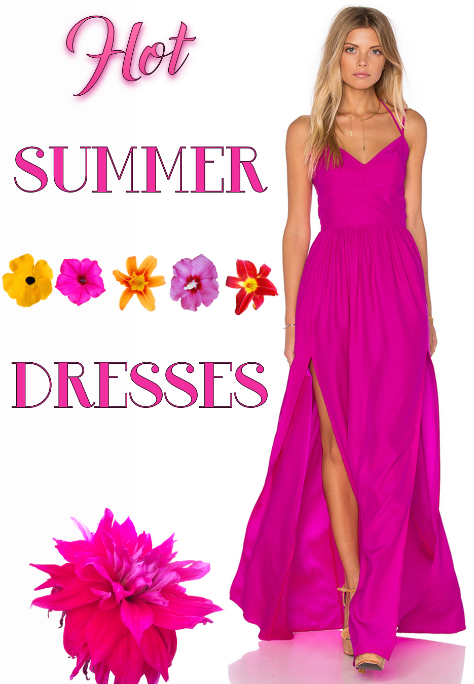 AMANDA UPRICHARD Rio Maxi Dress Hot Pink