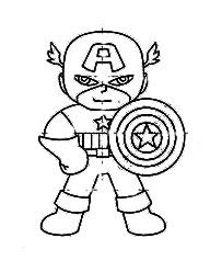 Belajar Menggambar Untuk Anak Mewarnai Tokoh Kartun Kaptain Amerika
