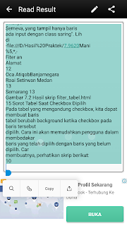 hasil text scanner ocr pada android