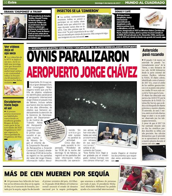 UFO flotta Peru fölött