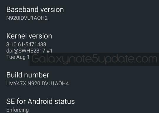 GalaxyNote5Update: Galaxy Note5 SM-N920I Update