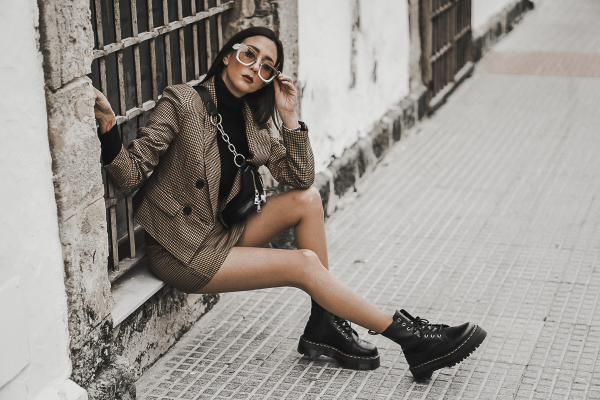 two pieces - looks dos piezas de cuadros - tendencias de primavera 2019
