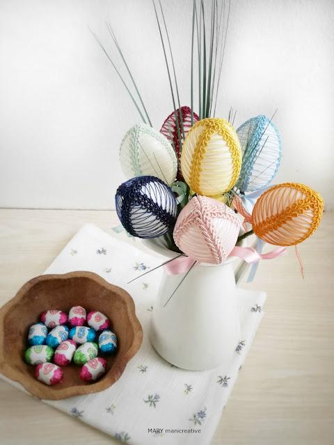 Come fare delle uova decorate con passamaneria