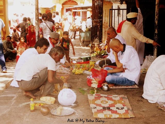 Ancestral rituals at Godavari River Ghat, Nashik