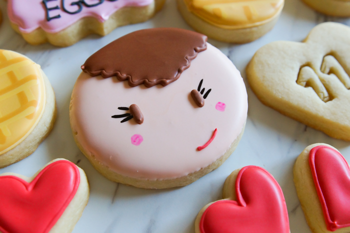 Stranger Things Valentine Decorated Cookies, Eleven cookies   bakeat350.net