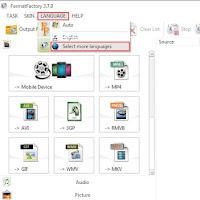 Cara Mengubah Bahasa Pada Aplikasi Format Factory