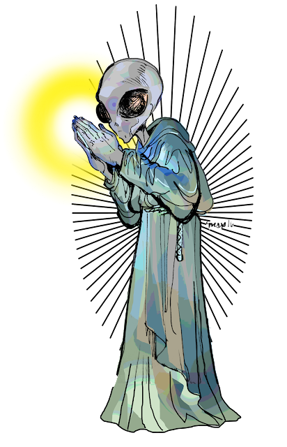 redbubble shop buy alien monk design