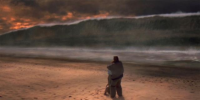 cena do filme Impacto Profundo - tsunami