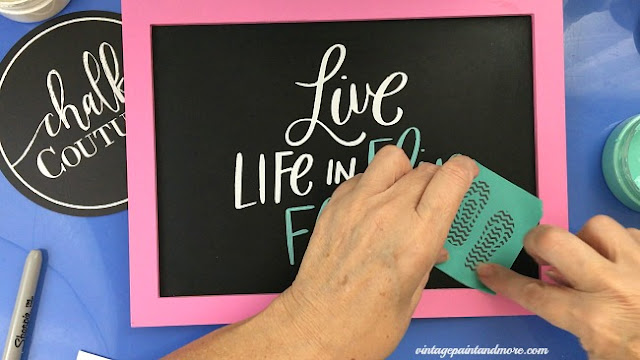 Vintage Paint and more... adding some flip flop embellishments to a summer sign with  Chalk Couture's transfers