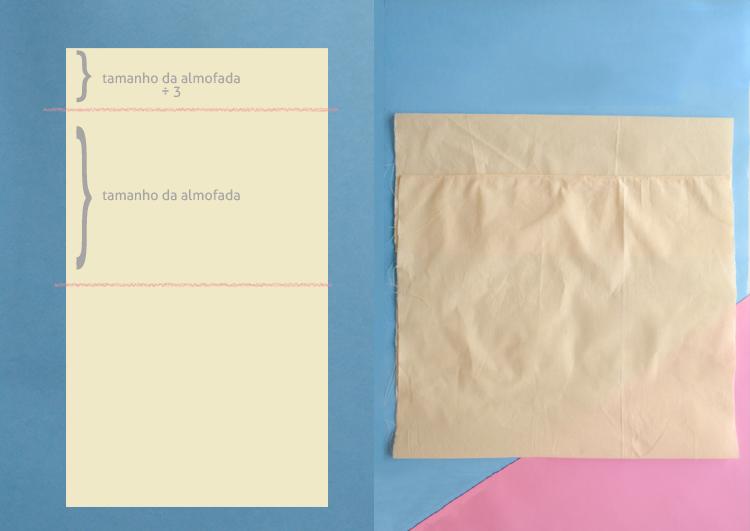 como fazer uma capa de almofada sem saber costurar | espanta-papão