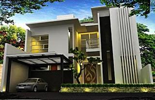 contoh rumah mewah 2 lantai minimalis - rumah interior lampung