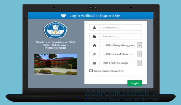Download Aplikasi e-Rapor SMA Versi 2018.e, Unduh e-Rapor SMA Versi Terbaru 2018.e