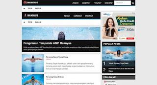 Maknyus Blogger template amp responsive