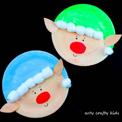 How to make a paper plate Christmas elf