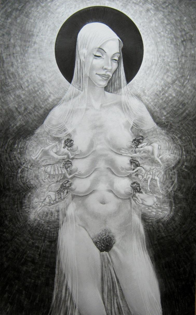 armando-prieto-perez-madonna-del-eclissi-disegno