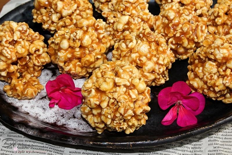 Popcornowe szyszki z solonym karmelem/popcorn w solonym karmelu
