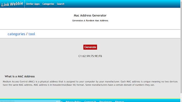 Link Webbie MAC Address Generator - Brian O Cnaimhsi - Joshua McGettigan - Ryan Lockhart
